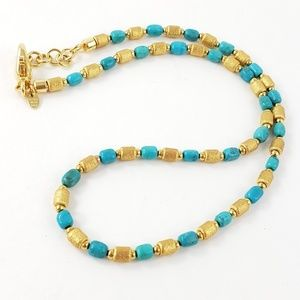 Milor Italy Necklace Turquoise + Turquoise